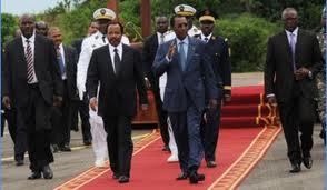 Le Président Idriss Déby Itno en visite au Cameroun dans ACTUALITES deby-biya