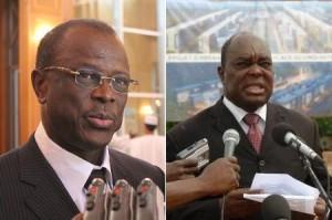 L'ancien premier Ministre Nadingar (gauche) et le nouveau Dadnadji