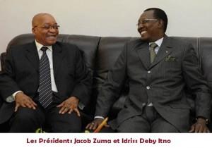 Centrafrique: Le jeu d'équilibriste de la CEEAC  dans ACTUALITES jacob-zuma-idriss-deby-300x210