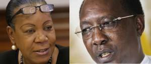 Tchad: le Président Idriss Déby félicite la nouvelle présidente de transition de Centrafrique  dans ACTUALITES idriss-deby-itno-et-catherine-samba-panza-300x128